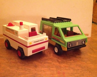 Vintage fisher price 2 trucks