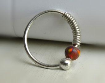 Opal Conch Piercing / Conch Earring / Conch Jewelry / Conch Hoop / Conch Piercing Jewelry / Conch Pierced Earring