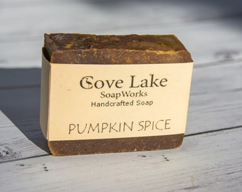Handmade Pumpkin Soap, Handmade Cold Process Soap