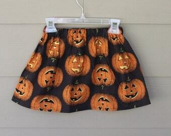 Pumpkin Skirt, Girls Skirt, Baby Skirt, Toddler skirt, Halloween Photo Prop Skirt, Orange and Black Skirt, Pumpkin skirt, Fall Skirt