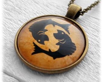 "Zodiac ""Pisces"" Pendant and Necklace"