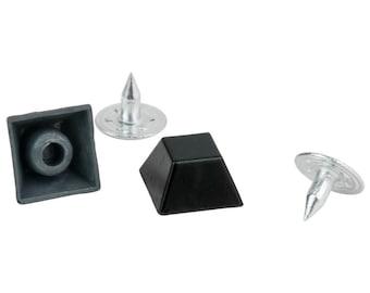 Black Square Spikes / Rivets / Studs