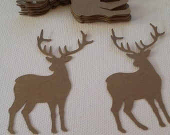 Deer Die Cut set of 20