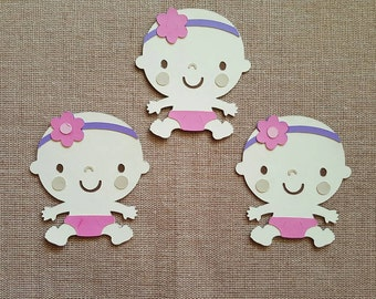 Baby Girl Die Cut Set of 3