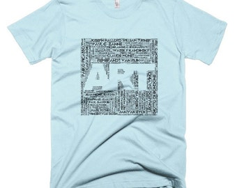 Men's Art Word Cloud T-shirt