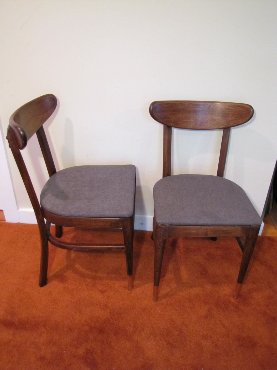 Mid Century Modern Dining Chairs Pair Bianco Modern Chairs