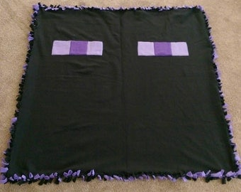 Double Layer Minecraft Enderman Blanket