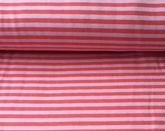 4mm Pink Stripe Jersey Knit Fabric, Extra Wide - Half Metre