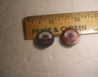 Vintage Enamel Sunday School Pins