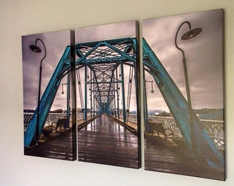 Walnut St Bridge Triptych