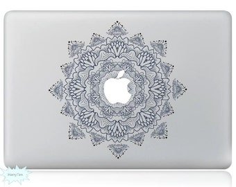 Light Colored Flowers Decal Mac Stickers Macbook Decals Macbook Stickers Apple Decal Mac Decal Stickers Laptop Decal