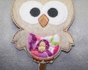 Owl Slider Headband, Cute Hair Accessory, Felt Headband, Embroidered Headband
