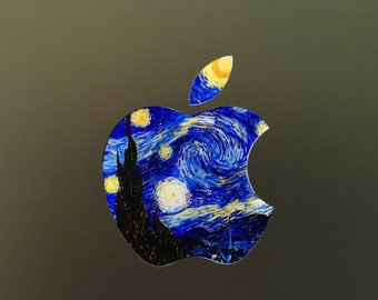 Macbook Decal, Macbook Starry Night Decal, Apple Decal, Apple Logo Decal, Macbook Pro Decal, Macbook Air Decal, STARRY NIGHT