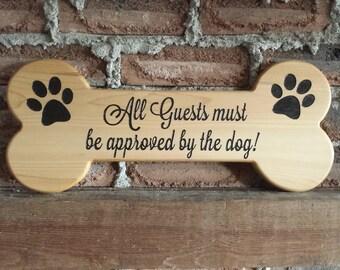 Dog Bone Sign, Pet Gift, Custom Wood Sign, Dog Sign, Custom Signs, Cedar Sign,Personalized Sign, Pet Lover