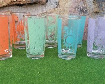 "Bartlett-Collins ""Weather"" Drinking Glasses"