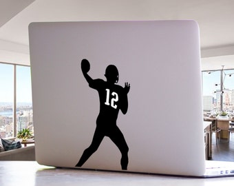 Patriots Quarterback Tom Brady Inspired MacBook Decal -  NFL Football Sports Mac Laptop Vinyl Decal Sticker
