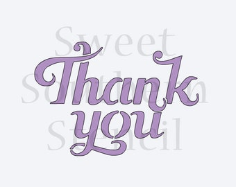 Thank You Cookie Stencil to fit That's A Nice Cookie Cutter's Cutter (2 size options)