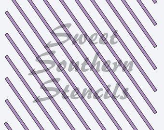 Diagonal Stripes Stencil