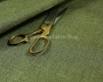 10 Metres Of Quality Luxury Woven Shine Finish Plain Green Chenille Upholstery Fabric For Interior Soft Furnishings Furniture Curtains Sofas