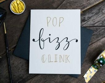 Pop Fizz Clink Card, Congratulations Card, Funny Congrats Card, Just Because Card, Celebrate Greeting Card