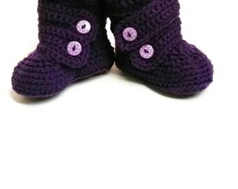 Crochet baby slippers - crochet baby booties - newborn slippers - crochet booties - crochet baby shoes