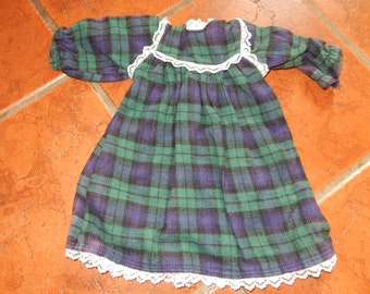 American Girl nightgown sleepwear 18 inch doll nightgown plaid flannel