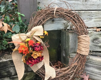 Holiday Fall Grapevine Wreath