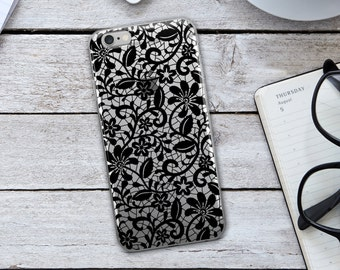 Lace Iphone Case - Black Lace Iphone Case - Lace Phone Case - Lace Case - Black Iphone Case - Iphone Case - Black Lace
