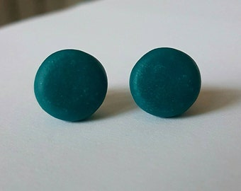 Polymer clay stud earrings.