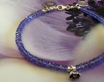 Tanzanite bracelet Gemstone Bracelet Womens bracelet Sterling Silver Bracelet Purple bracelet