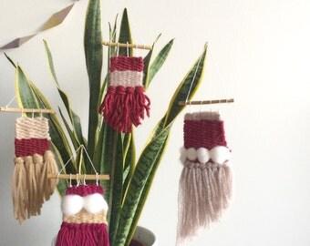 Lot of 4 mini Christmas weaving