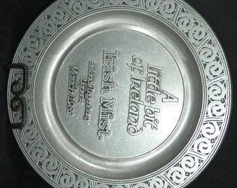 Collectible Armetale Plate Featuring the Irish Liqueur Irish Mist from March 1982    01148