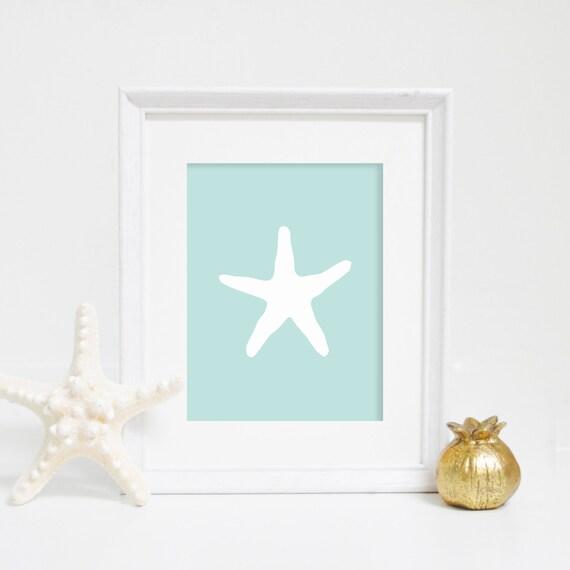 Starfish Digital Print, Instant Download, Mint Starfish, Starfish Wall Decor, Beach House Decor, Beach Decor, Sea Life Print, Beach Nursery