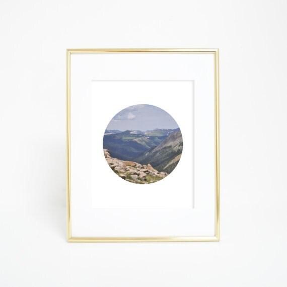 Circle Print, Circle Photography, Mountain Photography, Mountain Pictures, Colorado Photography, Cabin Decor, Cabin Prints, Mountain Art