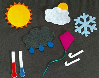 Daily Weather Felt Board Story// Flannel Board Story Set // Preschool // Teacher Story // Weather //