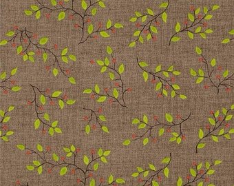 UK SHOP Taupe Branches For Henry Glass Fat Quarter