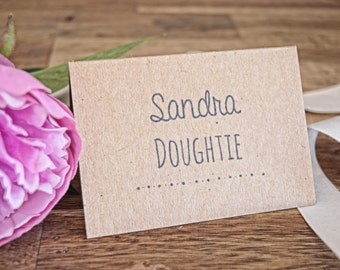 Rustic Custom Wedding Place Cards