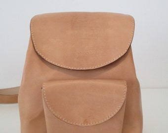 Leather backpack. Discount 50% with code OUTSTOCK50