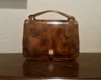Vintage Purse Brown Patent Leather  - Marked Down!