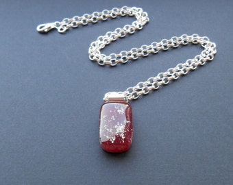 Glass, Kiln Fired Handcrafted Glass Cemation Pendant