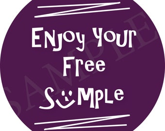 Scentsy Sticker, Enjoy Your Free Sample Sticker, set of 12