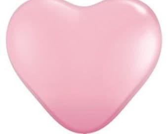 Balloons | Pink | Pale Pink Heart Balloons | Large Pink Heart Balloons | Pink Party Balloons | Wedding Balloons | Babyshower | 10 per pack