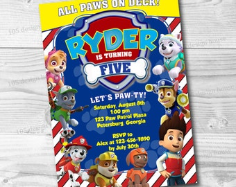 Paw Patrol Invitation Printable - Paw Patrol Party Invitation - Paw Patrol Birthday Party - Paw Patrol Invitation