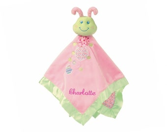 Personalized Cutsie Caterpillar Blanket - 17 Inch - Pink Embroidery