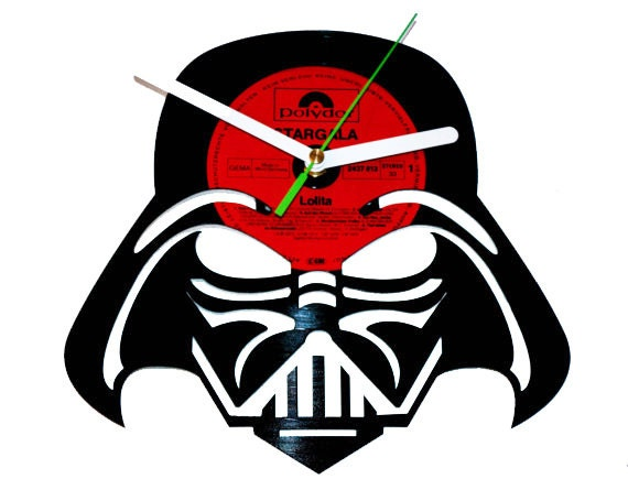 Darth Vader Vinyl Clock Star Wars Wars By Puffpuffdesign