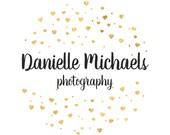 Logo For Photography, Gold Logo, Gold Photography Logo, Heart Logo, Photography Logo,Premade Logo Design,Gold Premade Logo