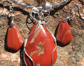 Picture Jasper wire wrapped pendant