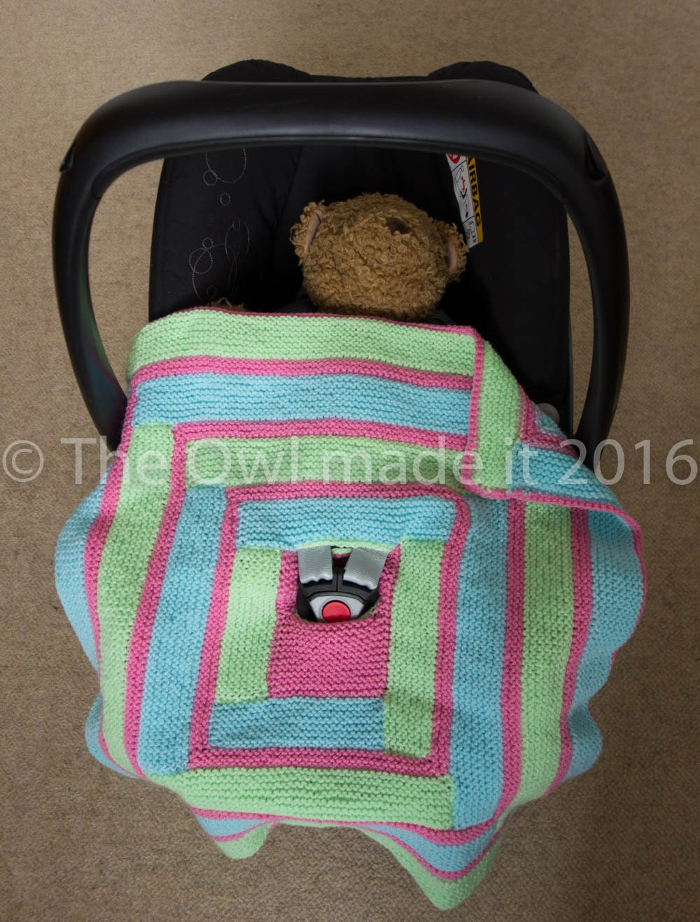 hand knitted car seat baby blanket car seat accesorybaby girl. Black Bedroom Furniture Sets. Home Design Ideas