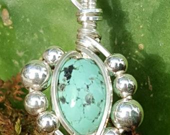 Tiny Turquoise Pendant