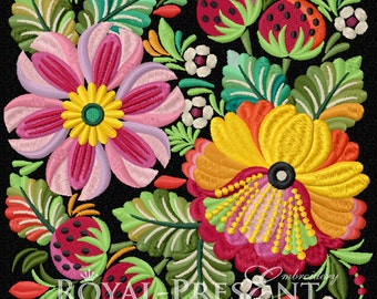 Machine Embroidery Design - Petrykivka painting